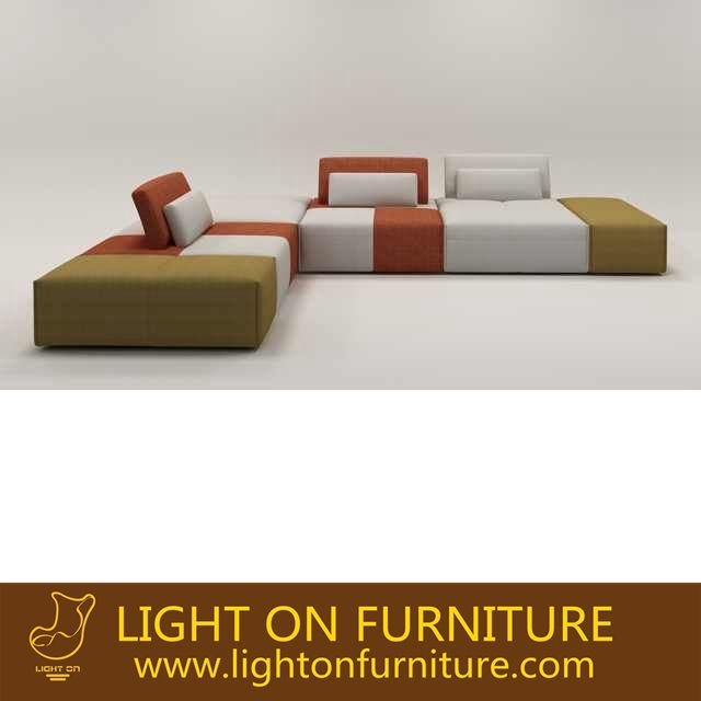 New Design Living Room Combination Fabric Sofa (F1115-1)