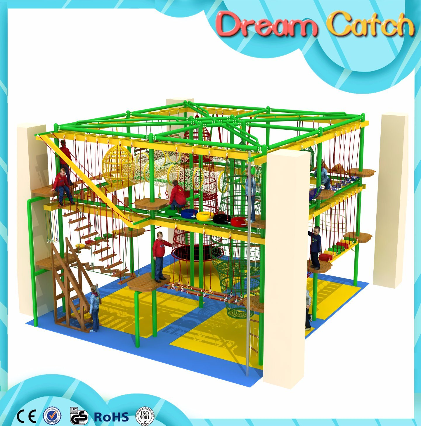 Indoor High Challenge Adventure Ropes Courses for Kids