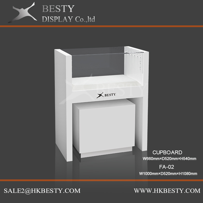 Customized Simple Jewelry Display Counter Showcase with Logo