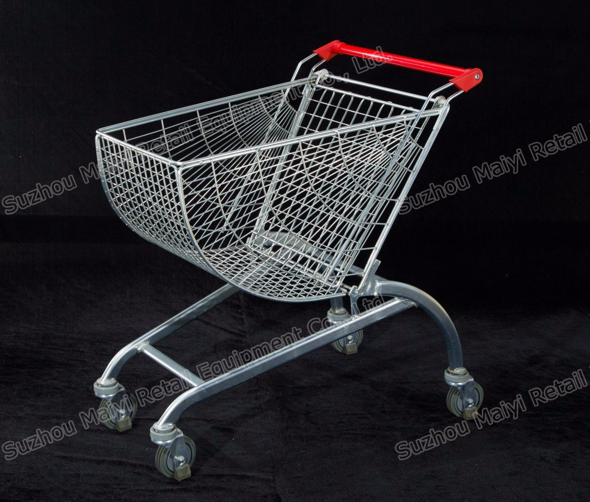 New Smart Supermarket Shopping Cart Curved Shopping Cart