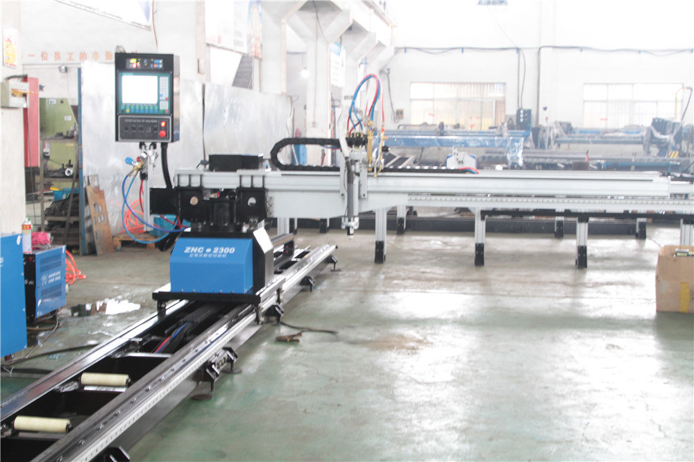 Low Cost 2300mm Width CNC Gantry Type Plasma Flame Cutting Machine