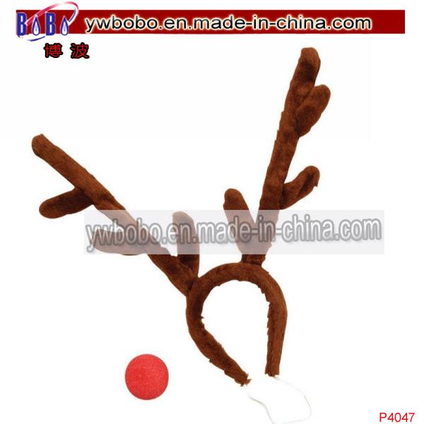 Rudolph Reindeer Christmas Stag Hair Decoration Antler Headband (P4047)