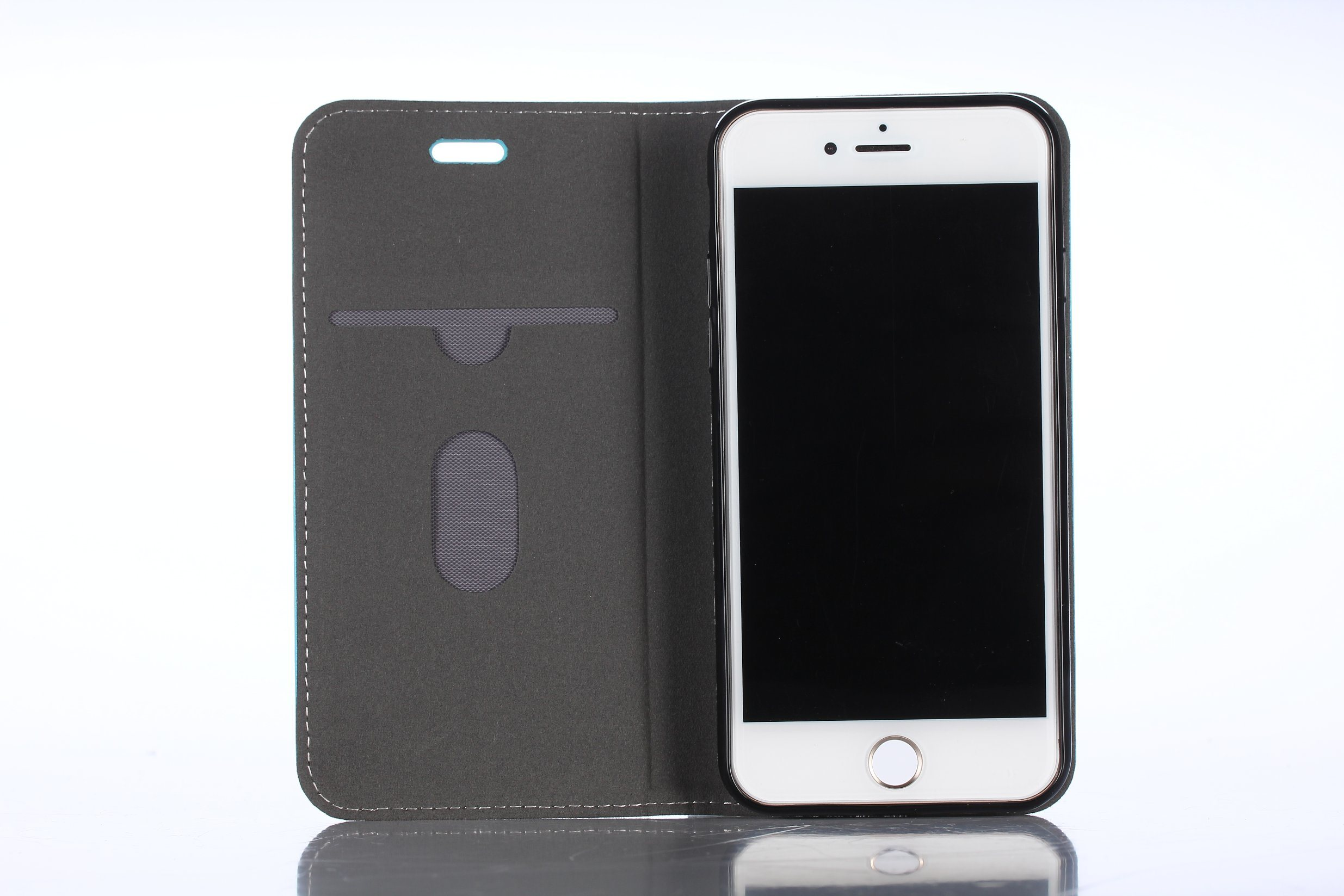 2017 Pma Flip with Credit ID Card Slot Anti-Radiation PU Mobile Phone Shell