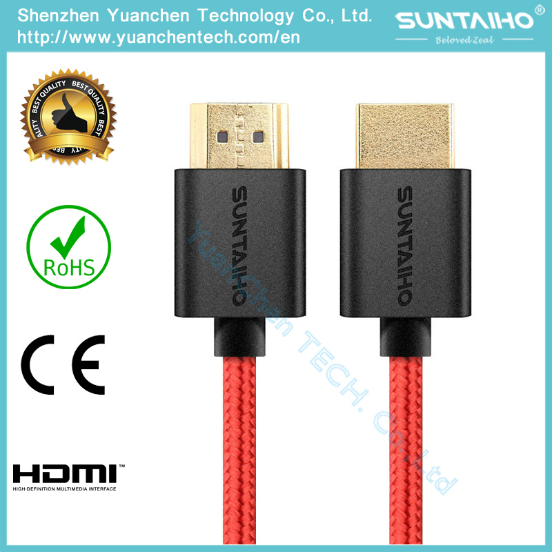 Wholesales 24k Gold 1.4/2.0V HDMI Cable Highspeed for 3D/4k/HDTV/PS31080P/2160p