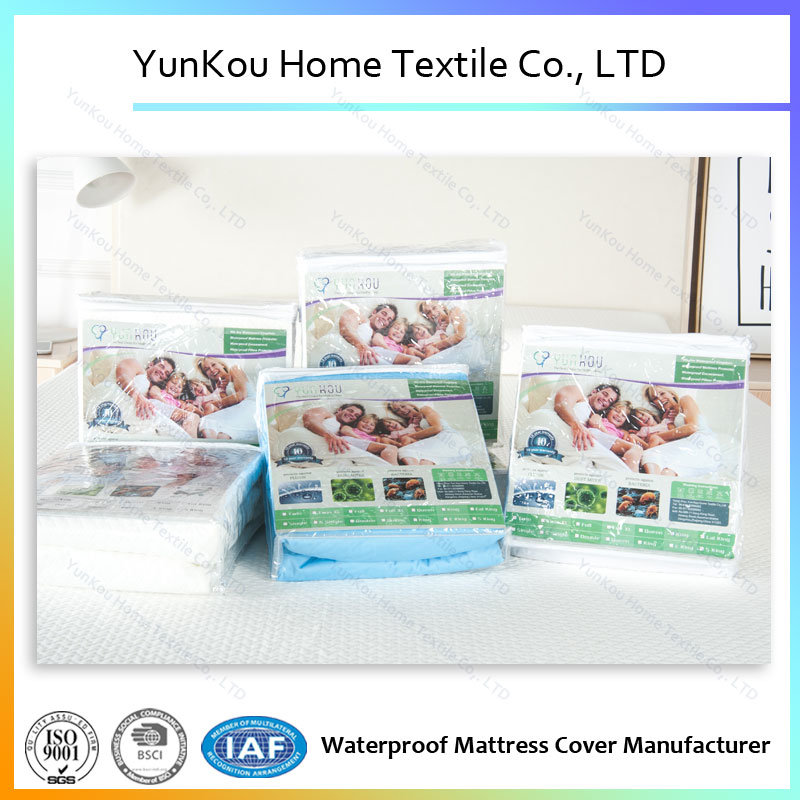 White Fitted Mattress Protector Waterproof Elastic mattress Cover King