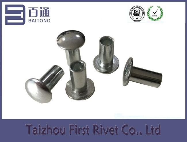 4.7X10mm Oval Head Zinc Plated Semi Tubular Steel Rivet
