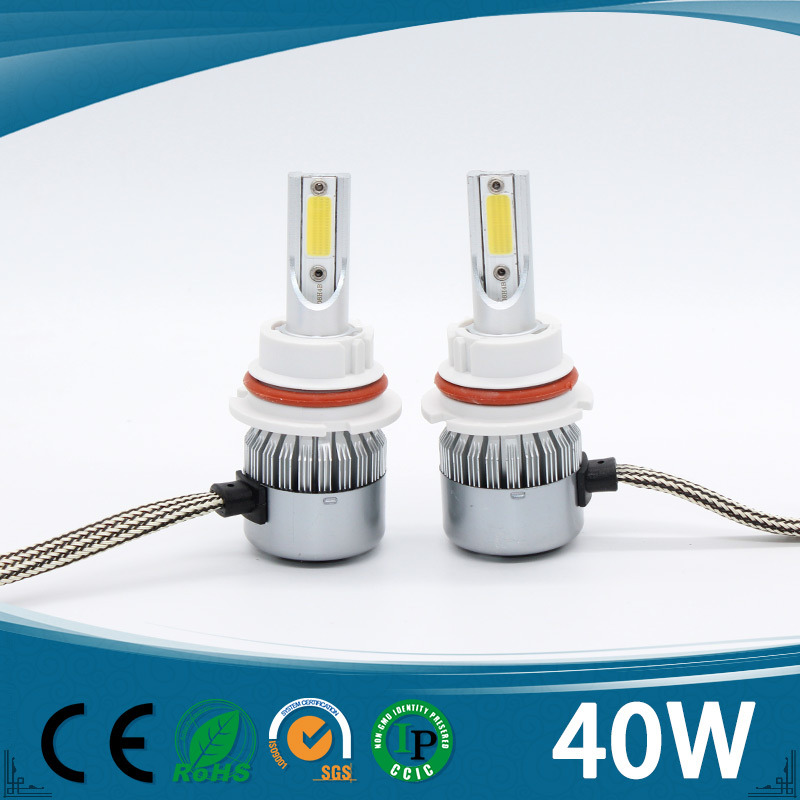 2017 New Design H4 LED Headlight All in One 4500lm H4 H7 H8 9004 9007 H13 Hi/Low Beam LED Auto Car Light