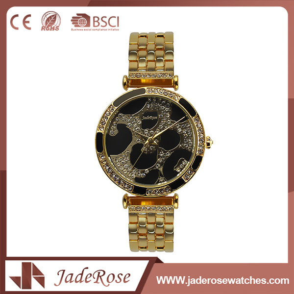 Waterproof Large Round Dial Shape Fashion Stainless Steel Watch
