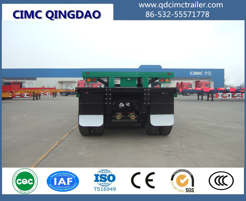 40FT 12.5m 3 Axles Cimc Flatbed Semi Truck Trailer