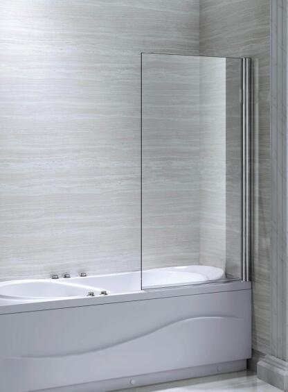 Bathroom 6mm Single Square Bath Screen Shower Enclosure