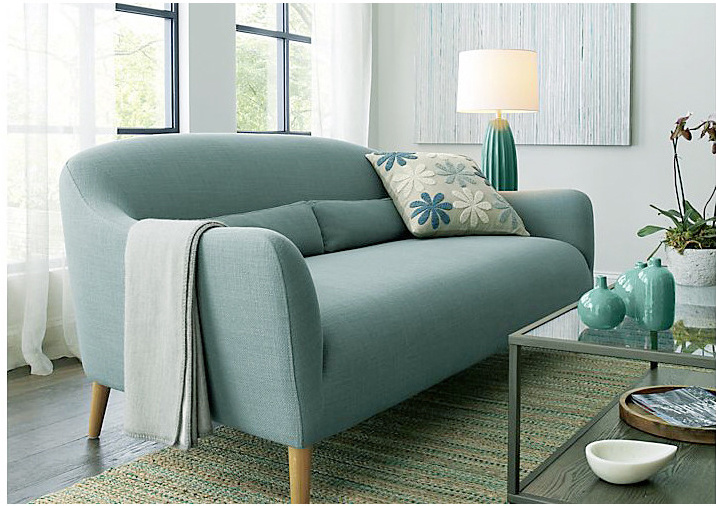 Promotional Home Furniture European Modern Simple Fabric Sofa (1+2+3)