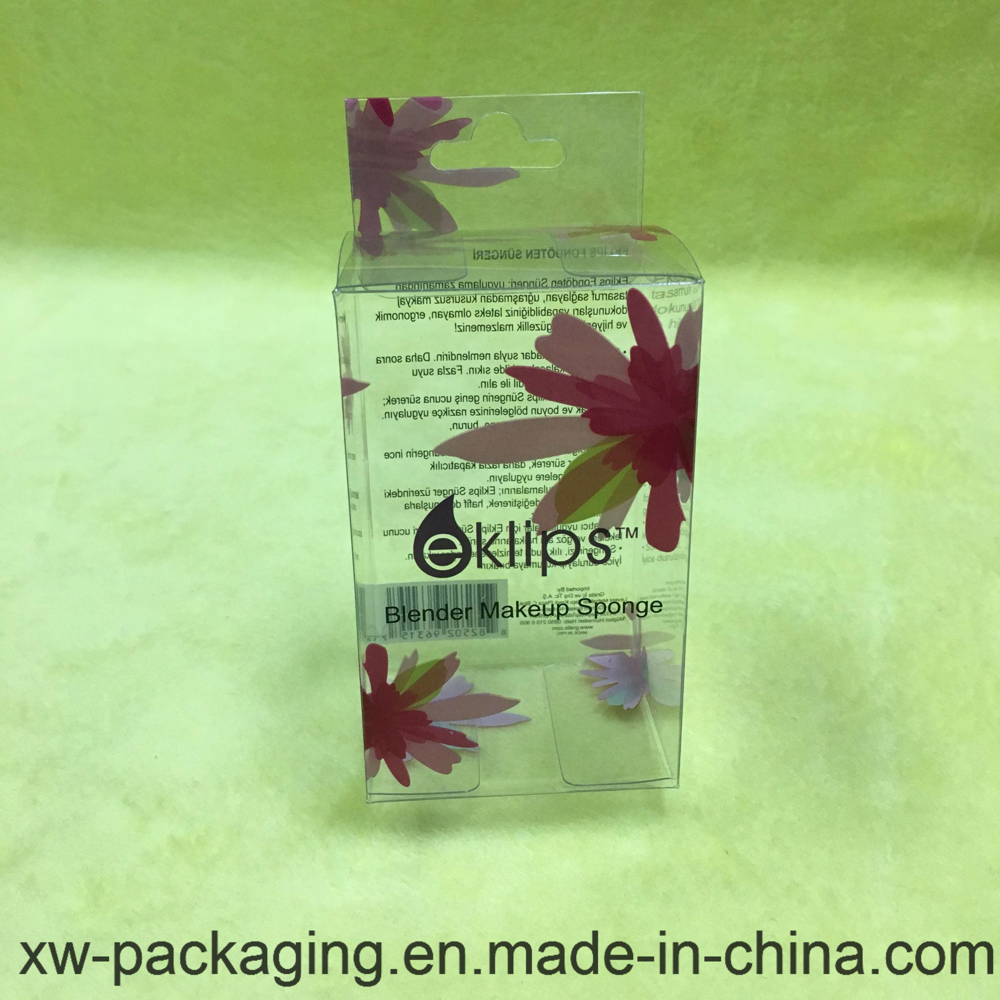 Clear Plastic Packaging Folding Printing Box