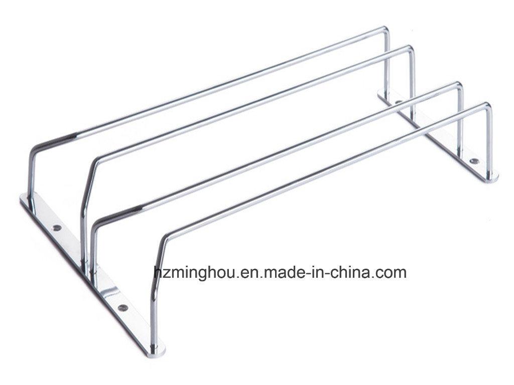 Chrome Metal Cup Rack Wire Wine Glass Rack