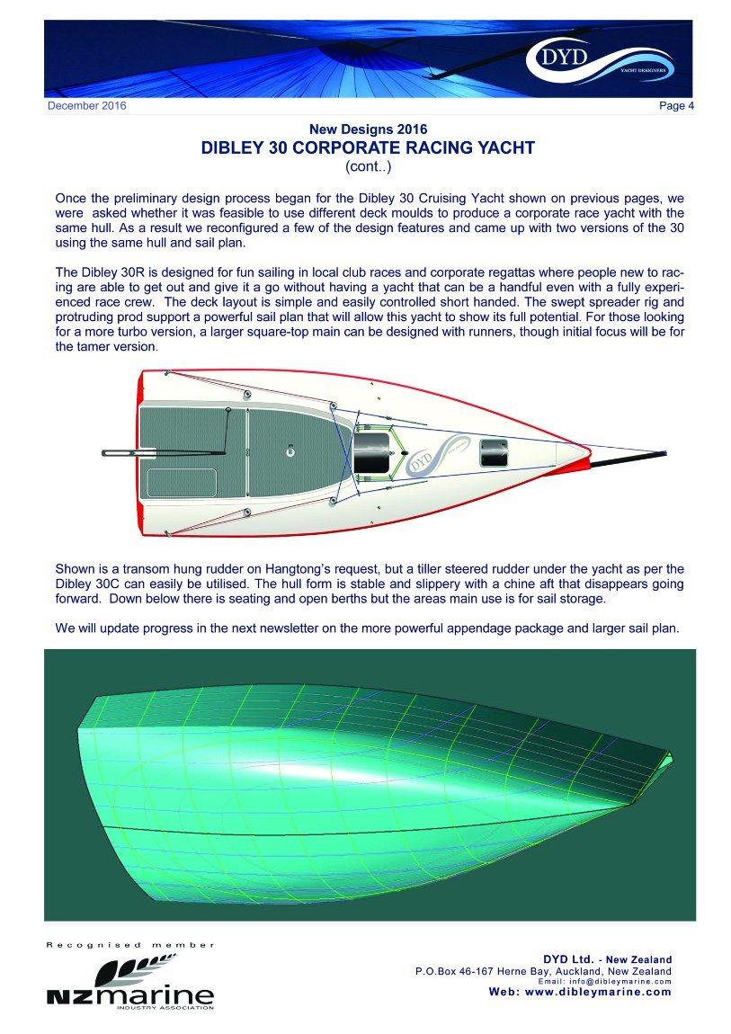 30′ Fiberglass Dibley Sailing Yacht Racing Yacht Sailboat Hangtong Factory-Direct