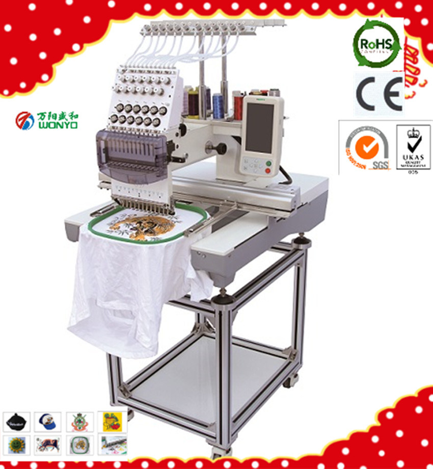 Wonyo Textile Cap T-Shirt Mixd Flat Embroidery Machine