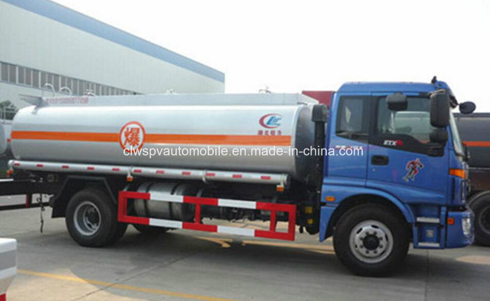 Foton 15cbm Fuel Truck 15000L Tank Truck for Sale