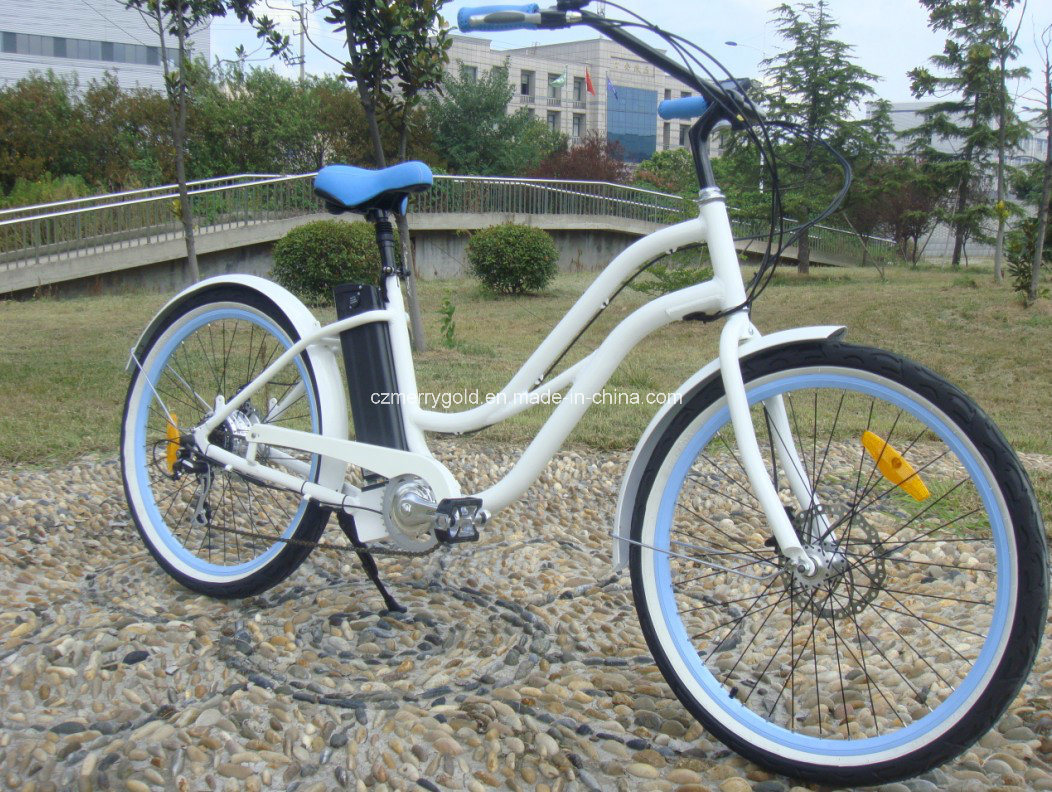 2017 Hot Sell Adults Woman Beach Cruiser 36V Electric Bike