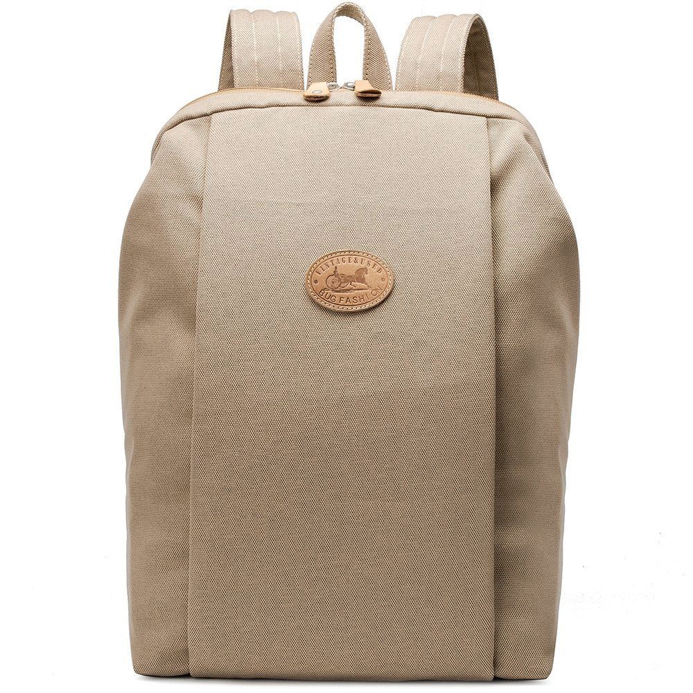 New Design Khaki Color Waterproof Laptop Canvas School Backpack Racksack Bag