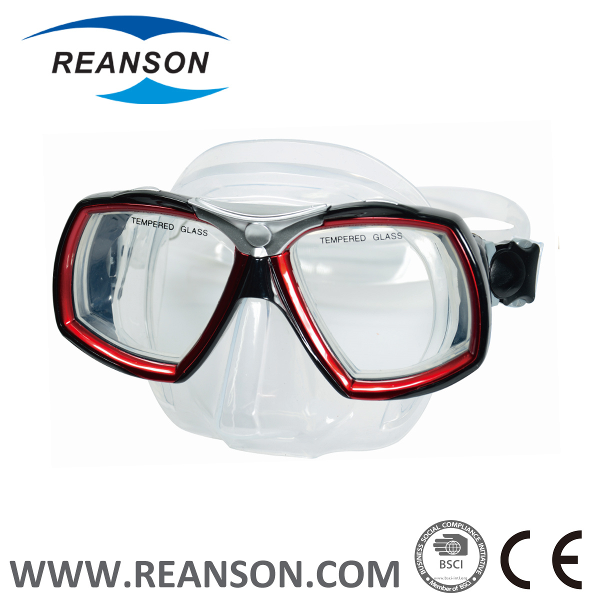 2017 Wide Vision Silicone Diving Mask