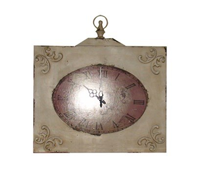Square Iron Decorative Wall Decoration Antique Wall Clock