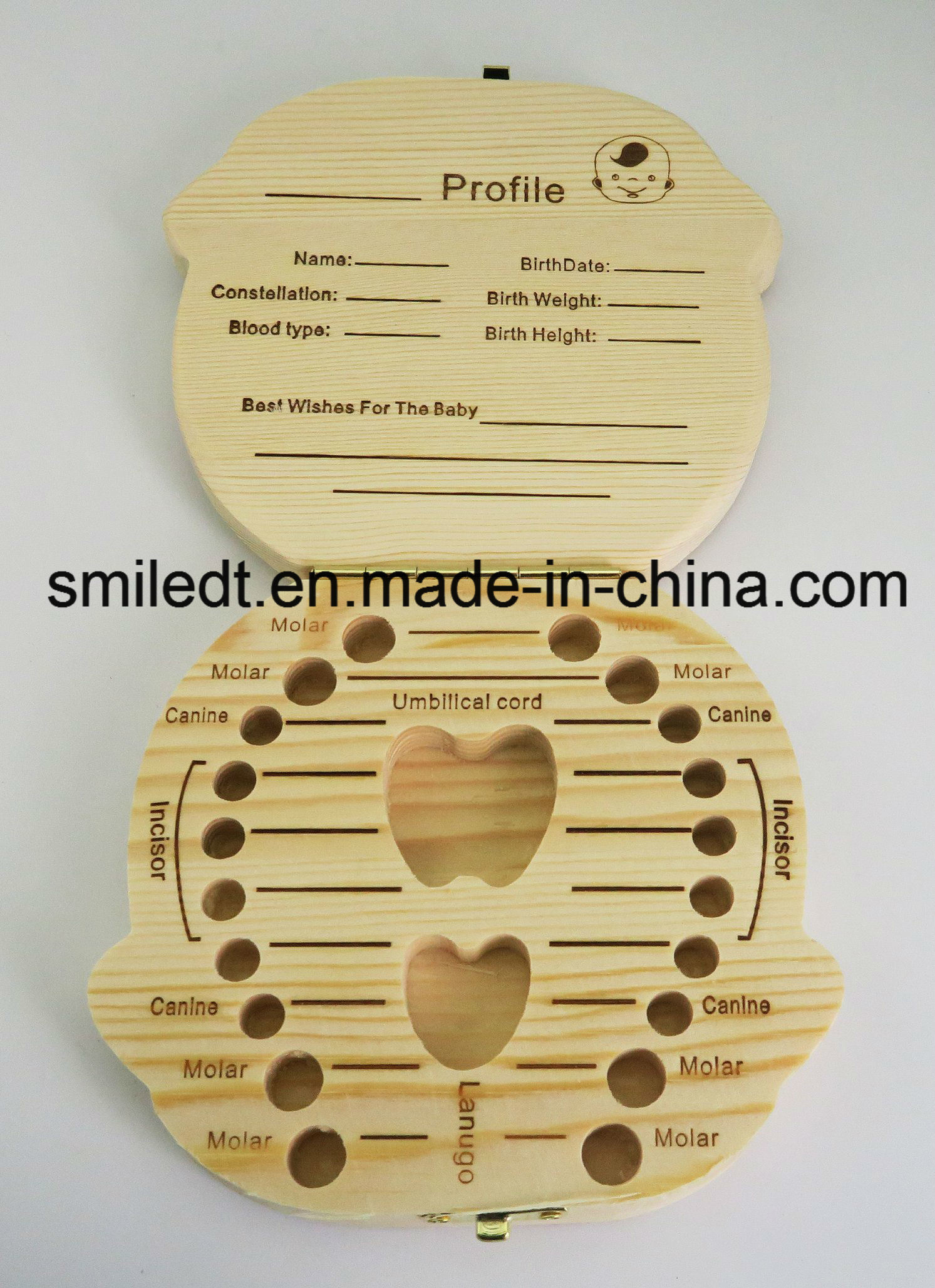 Baby Teeth Wooden Storage Box