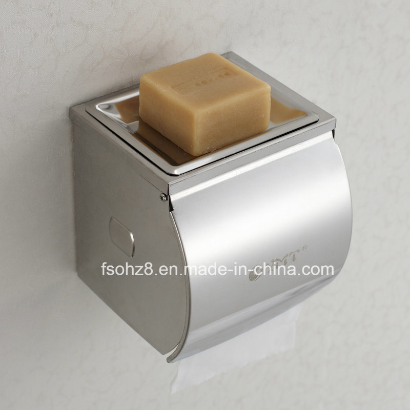 New Design Bathroom Paper Roll Soap Holder with Cover (YMT-003)