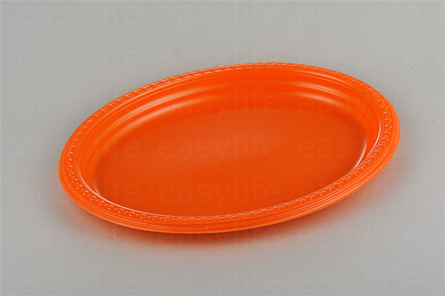 Shape 3 Easylife Various Disposable PS Plastic Round Plate