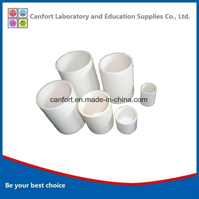 Lab Equipment Cylindrical Corundum Crucible with High Quality