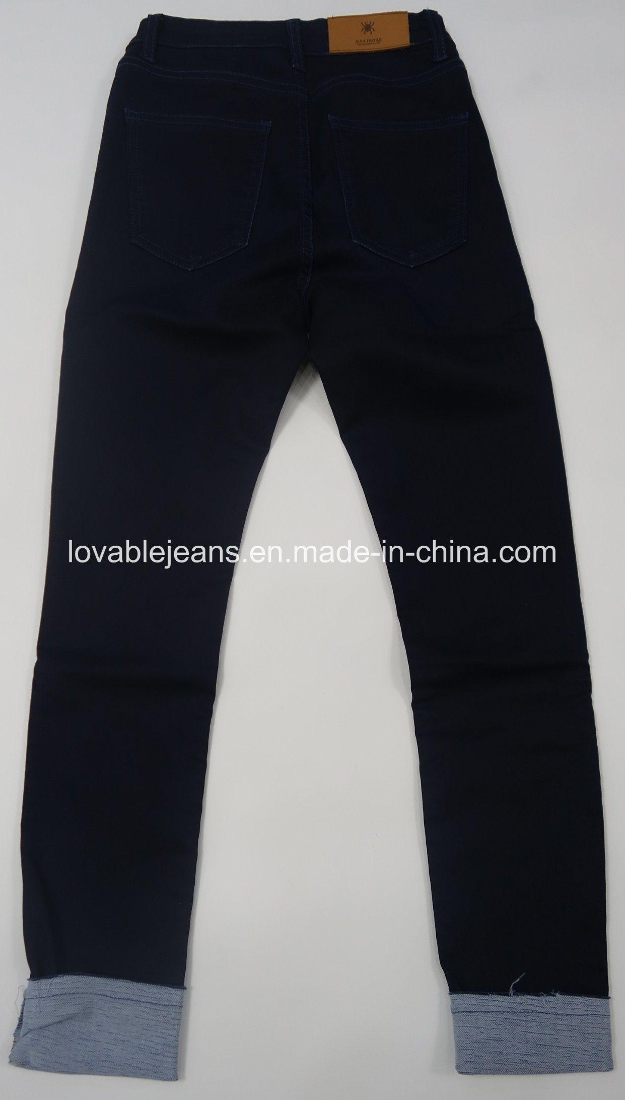 8.6oz Dark Blue Skinny Women Jeans (HYQ73-05TPA)