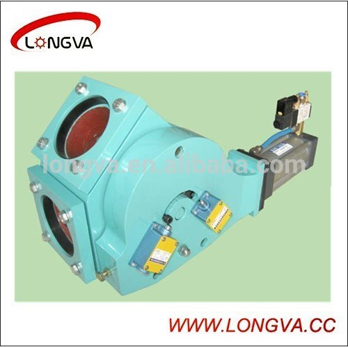 Sanitary Stainless Steel Pneumatic Plug Diverter Valve