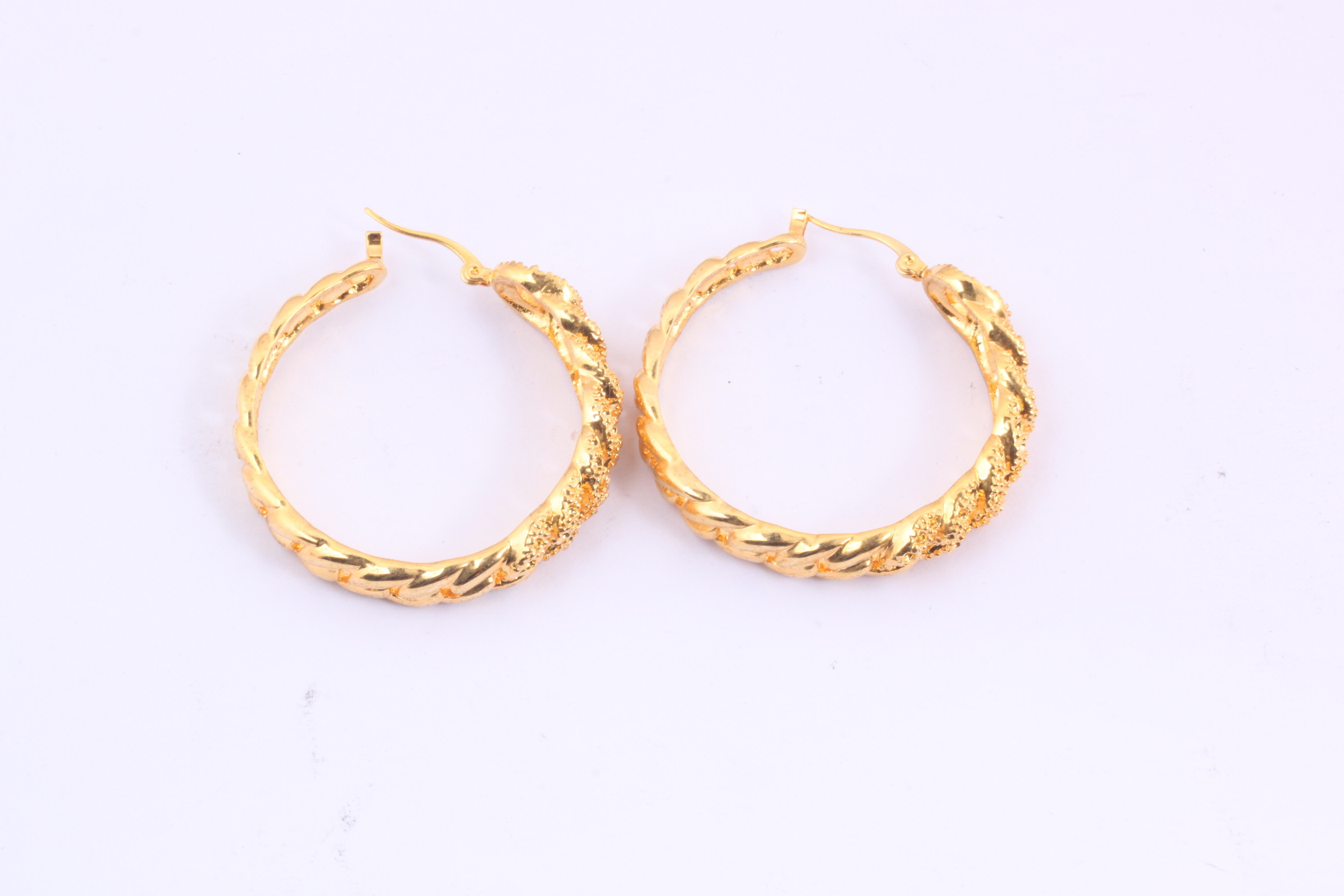 Wholesale Stainless Steel Hoop Earrings with Gold Ball