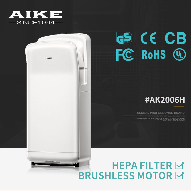 AK2006H Electric Hand Drying Machine ABS Automatic High Speed Jet Hand Dryer