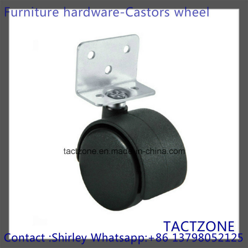 Good Heavy L Plate Without Brake Locking Swivel Nylon Caster Wheel
