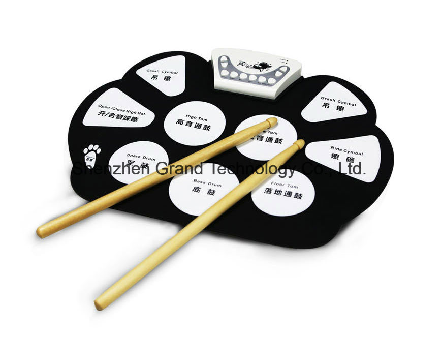 Portable USB Hand Roll up Drum Kit (GMD-758)