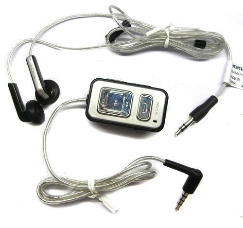 40. Nokia HS-45+AD-43; Характеристика наушников: Гарнитура Проводной Вкладыши 3,5 мм; Цвет: Серебристый.