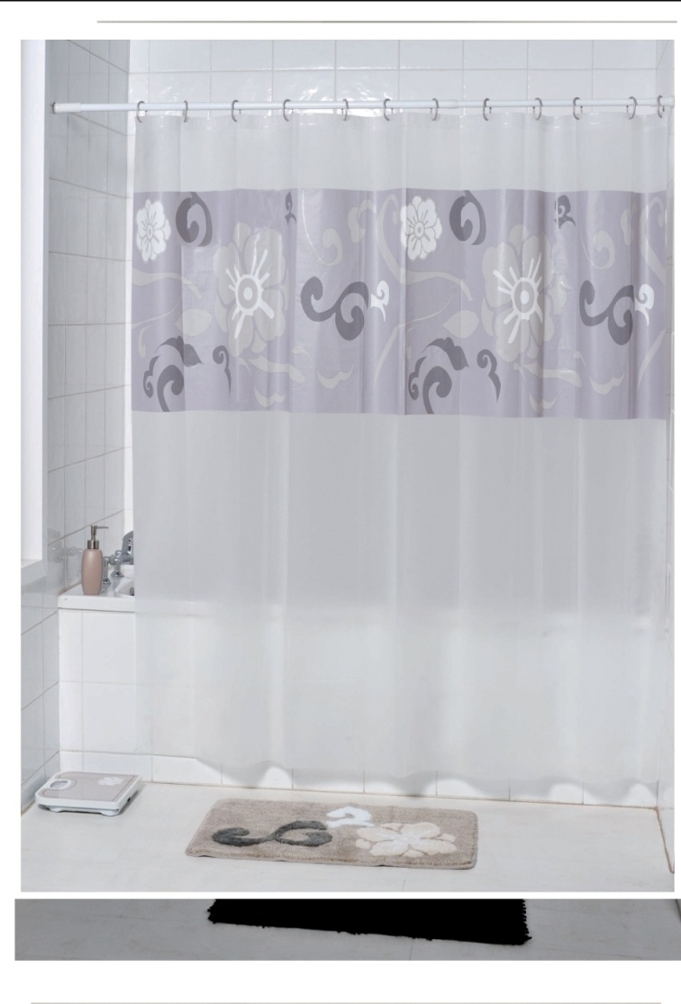 Style selections eva peva print multi fish shower curtain at lowes com - Peva