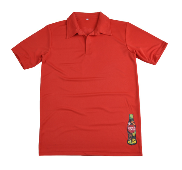 China the red custom dri fit t shirts for coca cola staff for Custom printed dri fit shirts