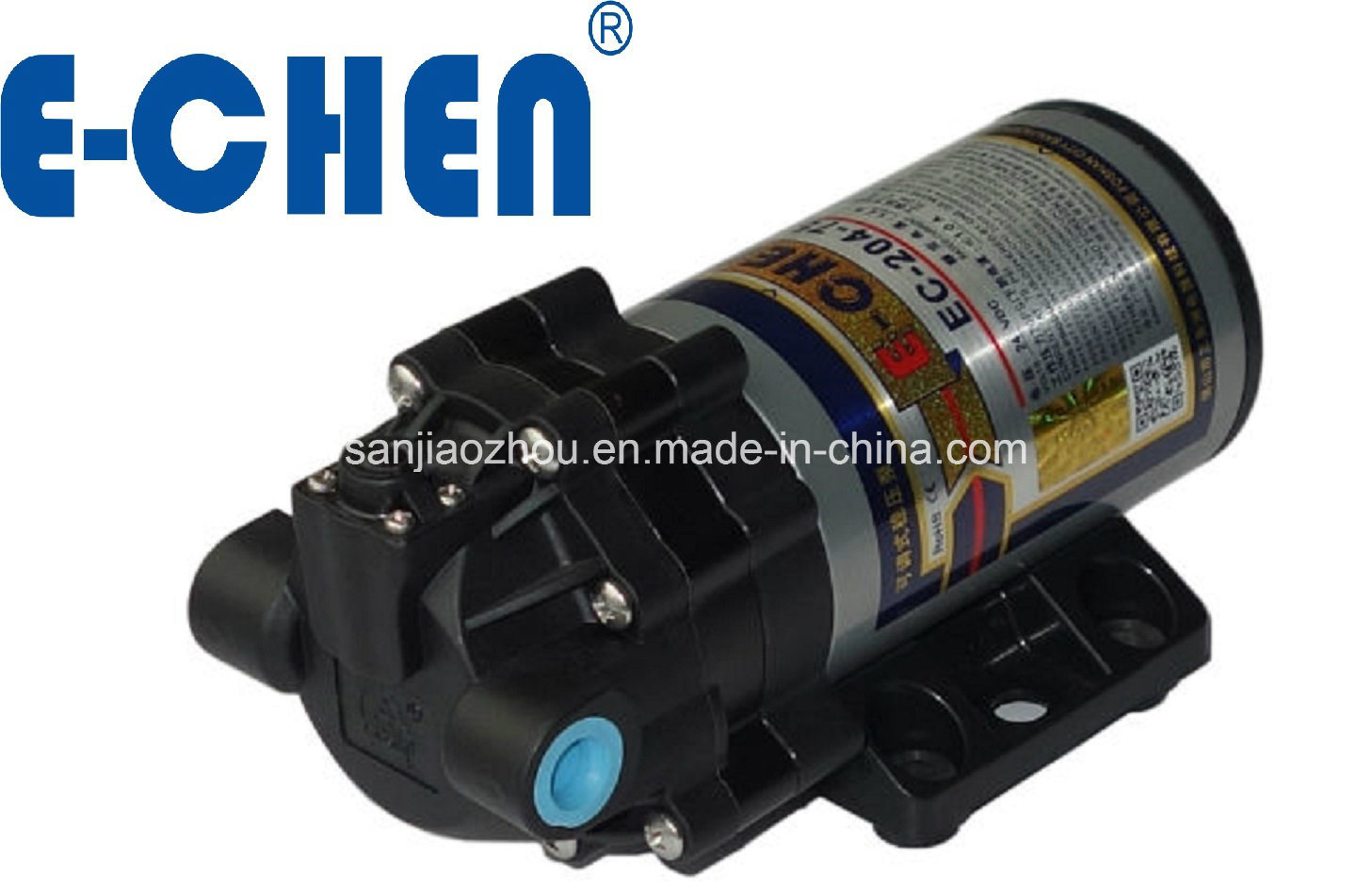 E-Chen 204 Series 400gpd Diaphragm RO Booster Pump - Self Priming Self Pressure Regulating Water Pump