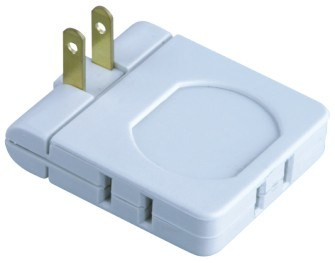 3 Outlet Polarzed Swivel Adapter