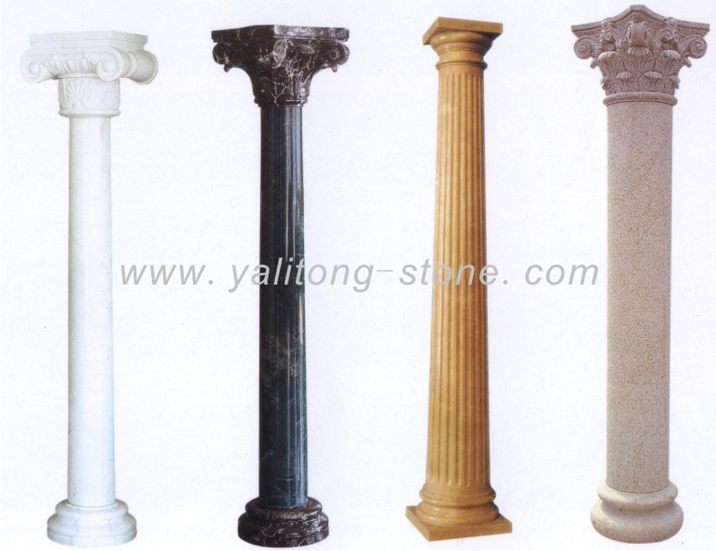 China Marble Granite Columns Pillar Stone Column Ylt