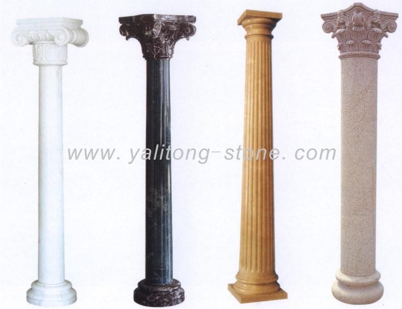 China marble granite columns pillar stone column ylt Decorative columns
