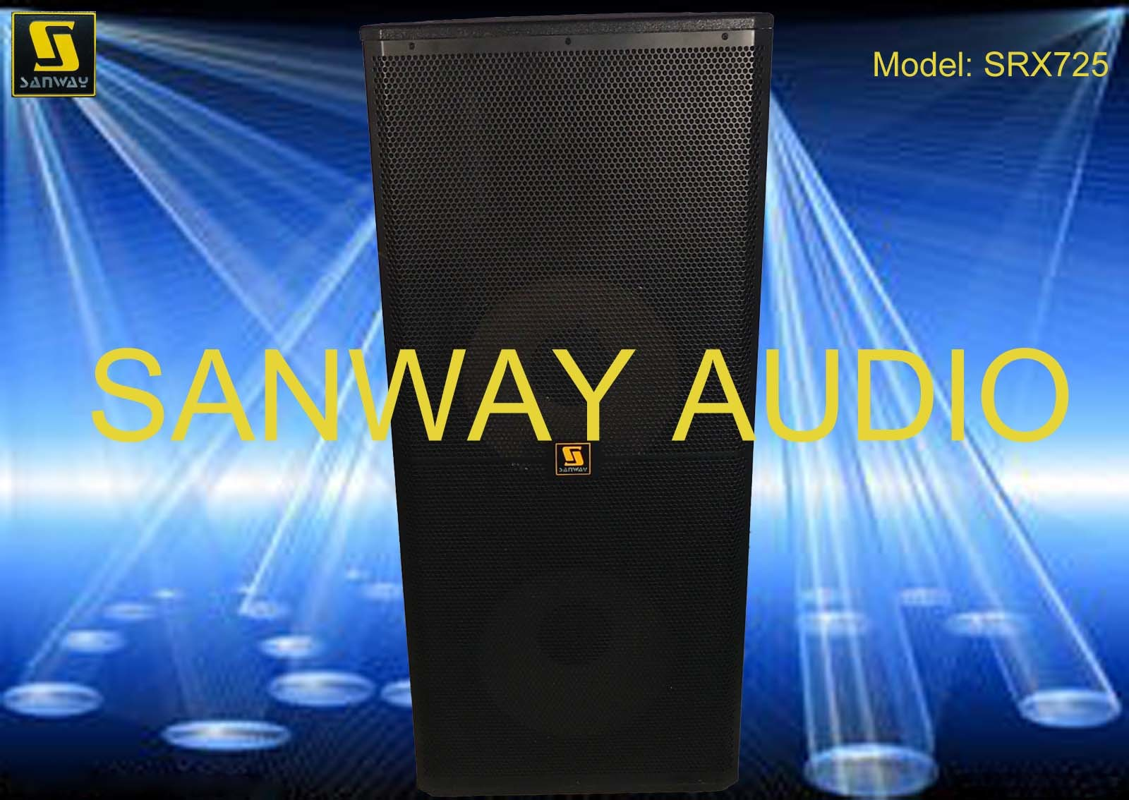 "Dual 15"" Bi-Amped Loudspeaker, PRO Audio Speaker Box (SRX725)"
