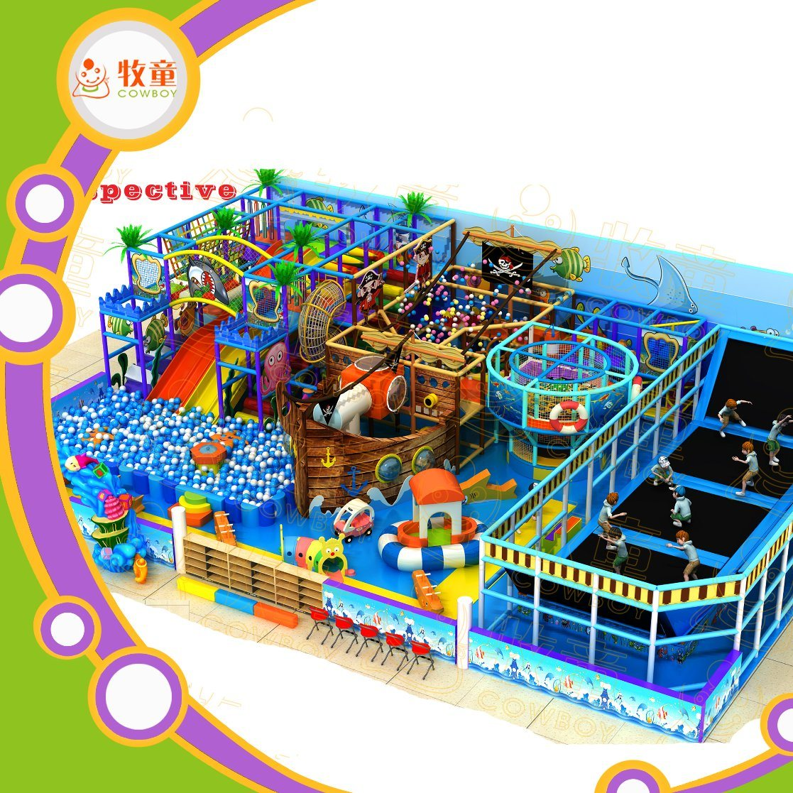 Good Indoor Children Playground for Family Entertainment Center