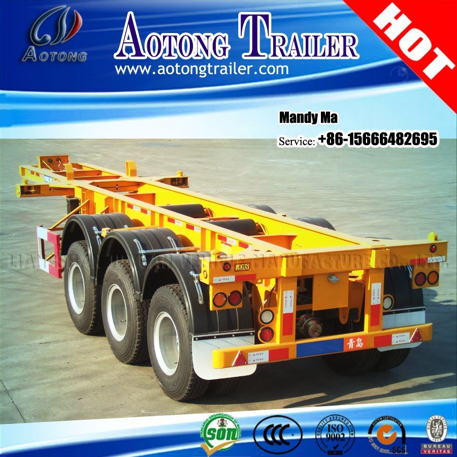 20FT 40FT Container Semi Trailer Chassis for Philippines