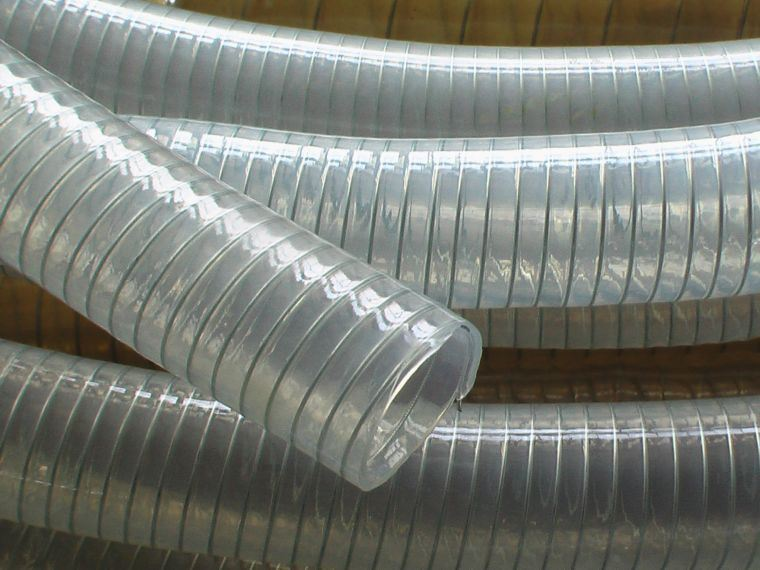 Pvc Tpu Cable : China tpu wire helix suction duct hose for water
