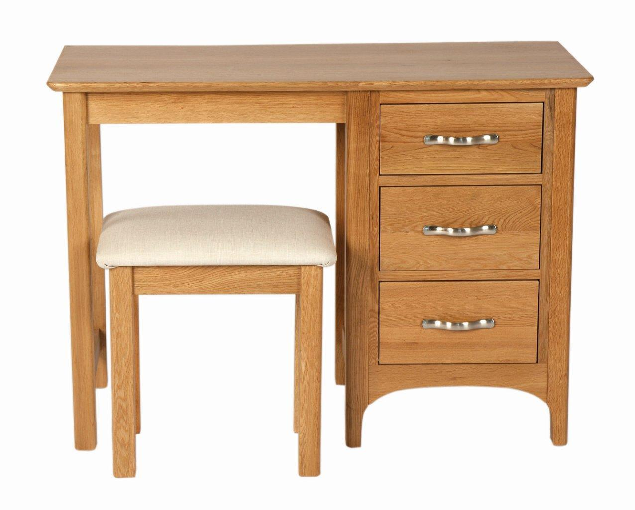 China solid oak dressing table wth stool wooden bedroom
