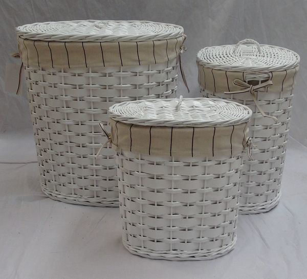 China white wicker laundry basket lined laundry hampers White wicker washing basket