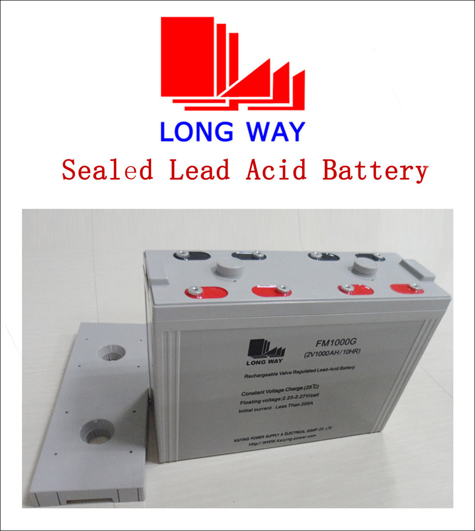 PV System UPS Sealed Lead Acid Battery 2V1000ah