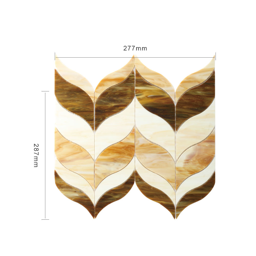 Custom Shape Beach Stained Glass Mosaic Sheets for Hot Sale