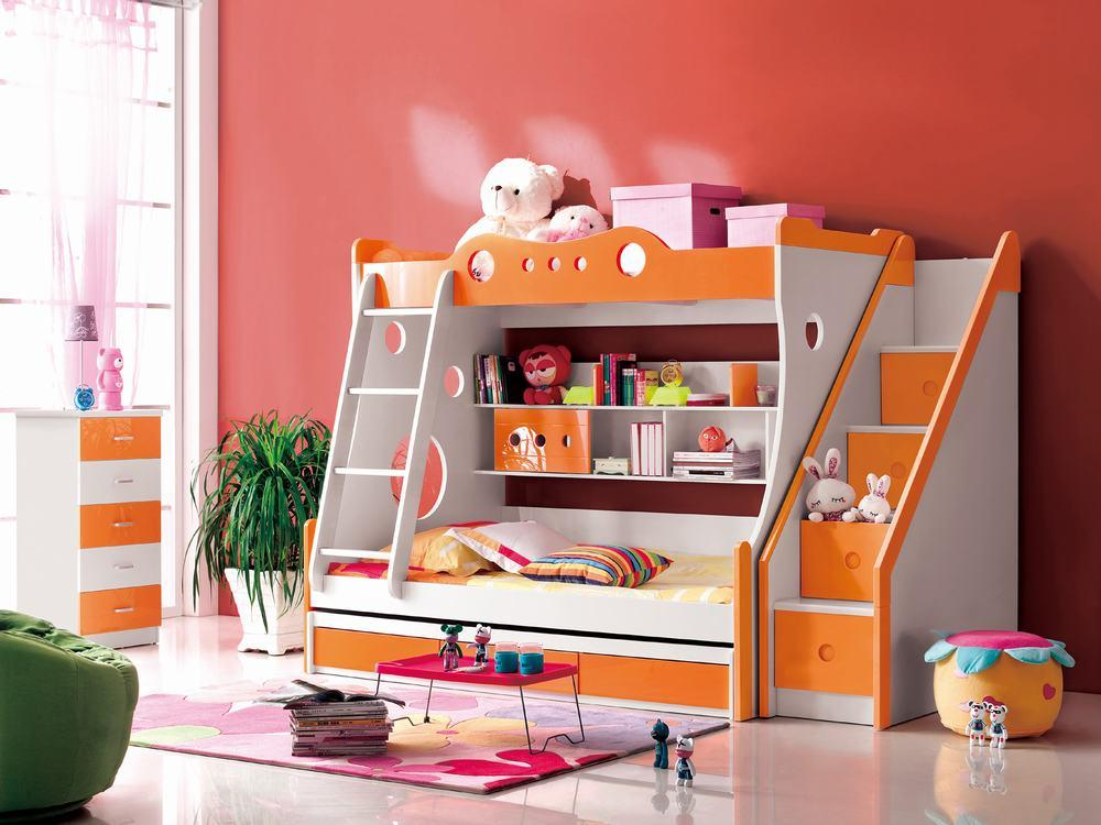 China kids bunk bed mzl 6020 china kids bed kids for Futon kids room